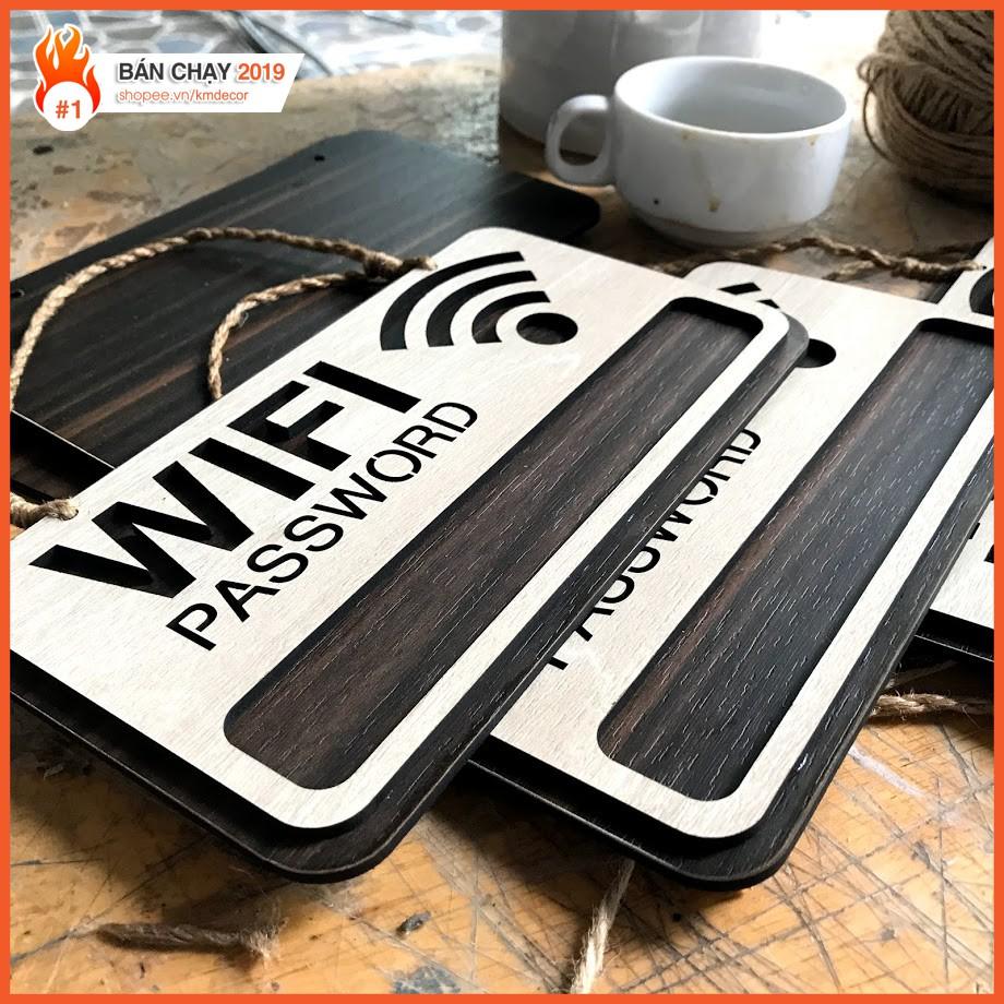 bảng wifi gỗ treo tường trang trí